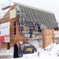14. März 2006: Heute sind auf der Baustelle in Berthelsdorf nicht nur die Mitarbeiter von Soli fer und FASA AG zu sehen...