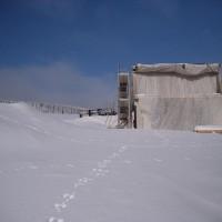 Planen schützen den Rohbau vom ENERGETIKhaus100® cube
