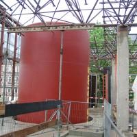 16. Juni 2010: Ab heute bekommt das ENERGETIKhaus100® office wieder ein Dach über den Kopf.