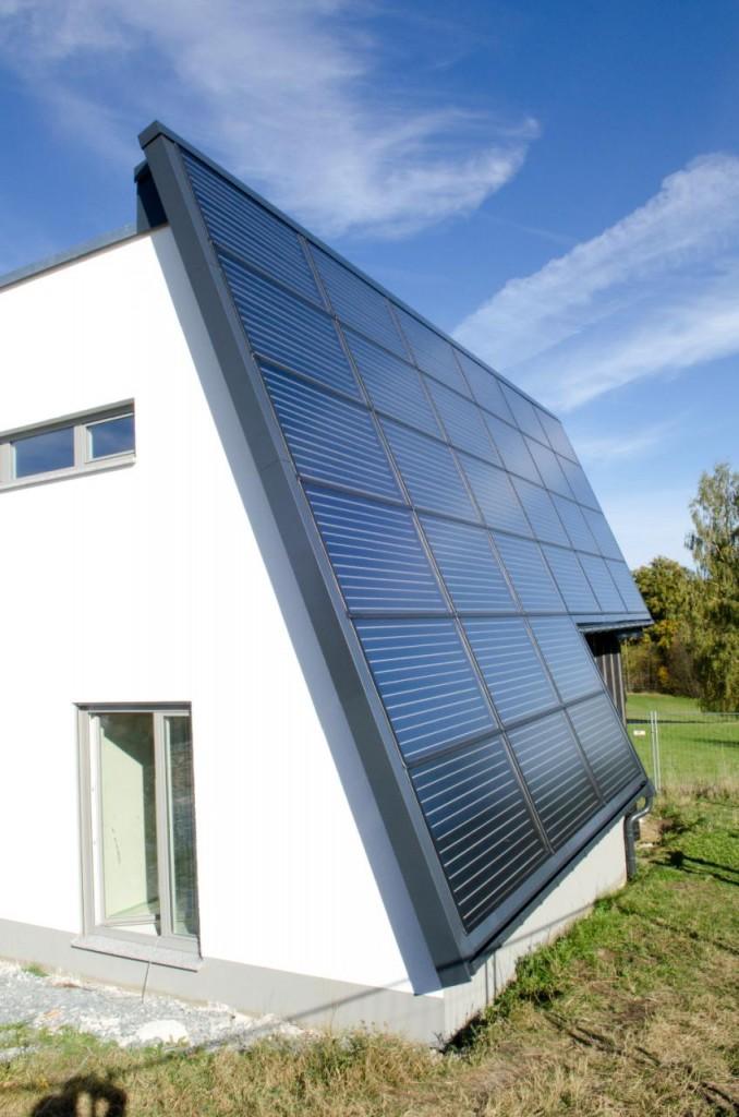 Kollektorfläche eines Solarthermiehauses