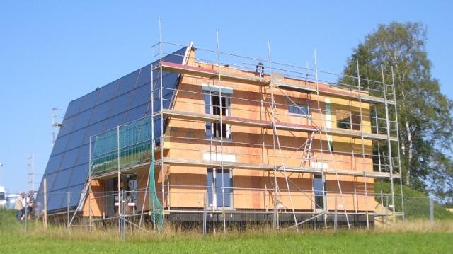 Massivhaus im Bau