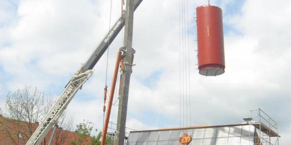 Archivbild: Speichersetzung für das ENERGETIKhaus100® (Quelle: FASA AG)