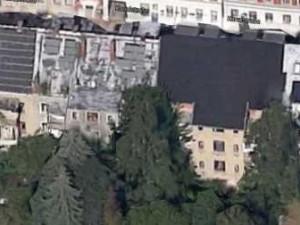 Das ENERGETIKhaus100® quartier. Satellitenaufnahme während der Arbeiten (Quelle: Google Maps)