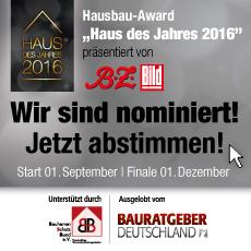 """Wahl zum """"Haus des Jahres 2016"""""""