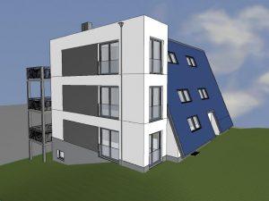 3D-Ansicht-Suedwest